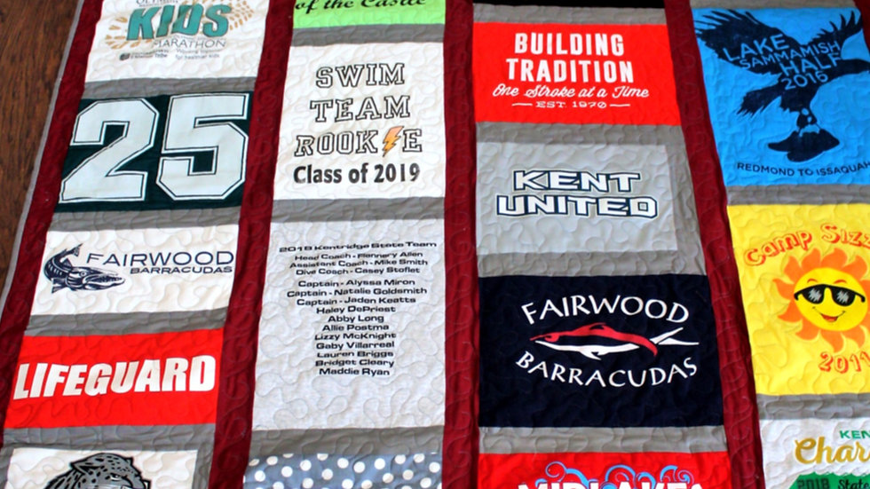 T shirt quilt dorm size twin extra long memory quilt grad gift