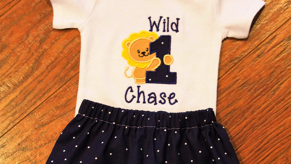 Wild one boy birthday outfit Wild 1 first birthday lion 1st birthday
