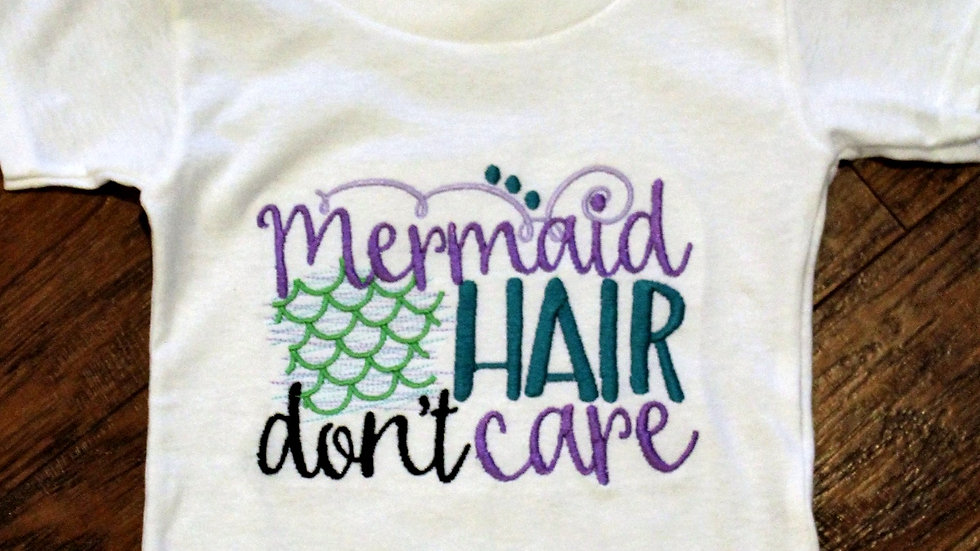 Girl Mermaid shirt Mermaid hair don't care Girls shirts for beach