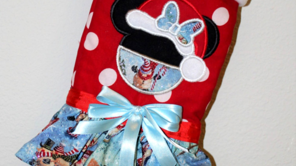 Mommy Mouse Christmas stocking personalized Christmas stockings