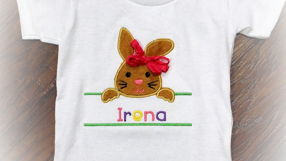 Personalized girl Easter Bunny shirt