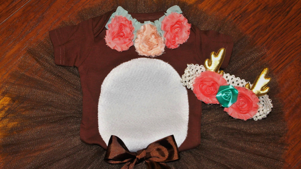 Baby deer costume baby girl fawn costume brown deer