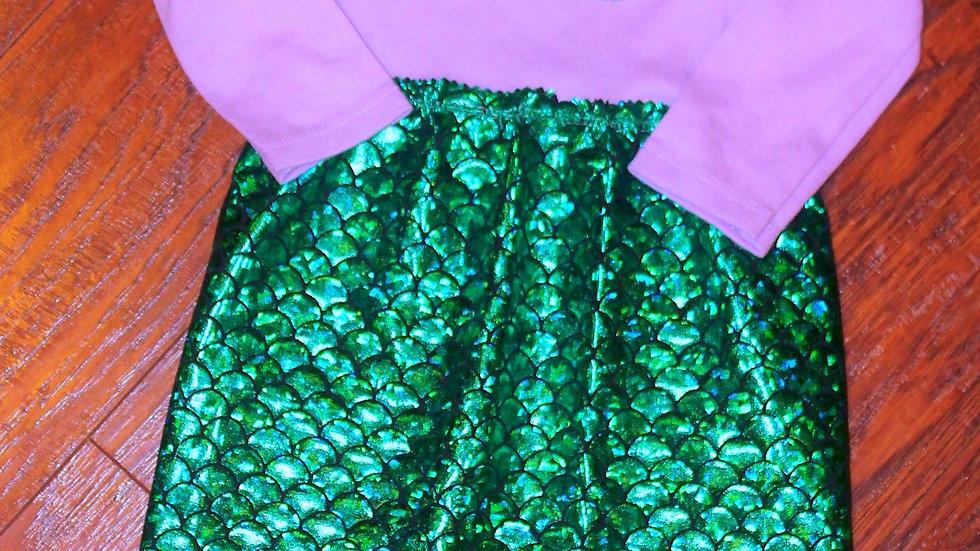 Baby girl mermaid costume Halloween costume for girls