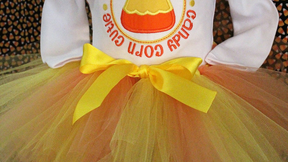 Candy corn cutie girl Halloween outfit girls Halloween costume leggings