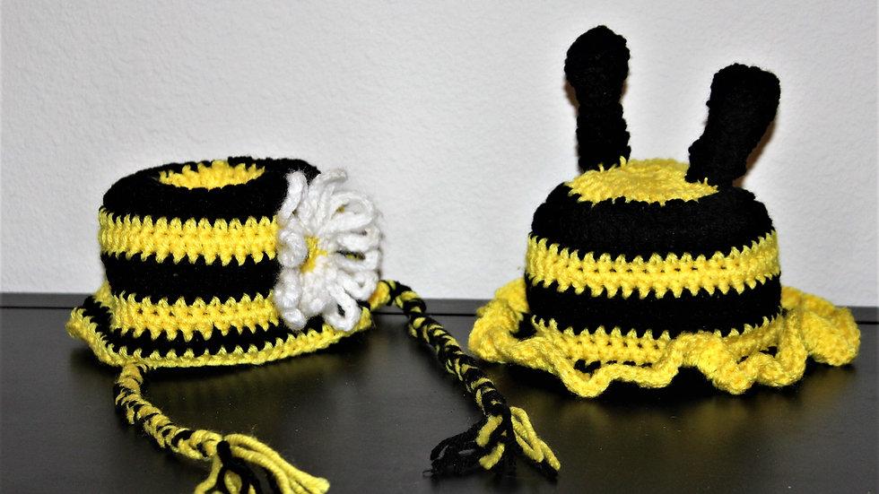 Bumble bee Halloween hat crochet toddler bee hat