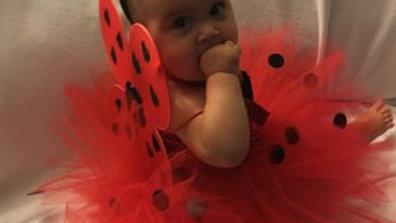 Baby girl ladybug Halloween costume ladybug tutu dress ladybug wings leggings