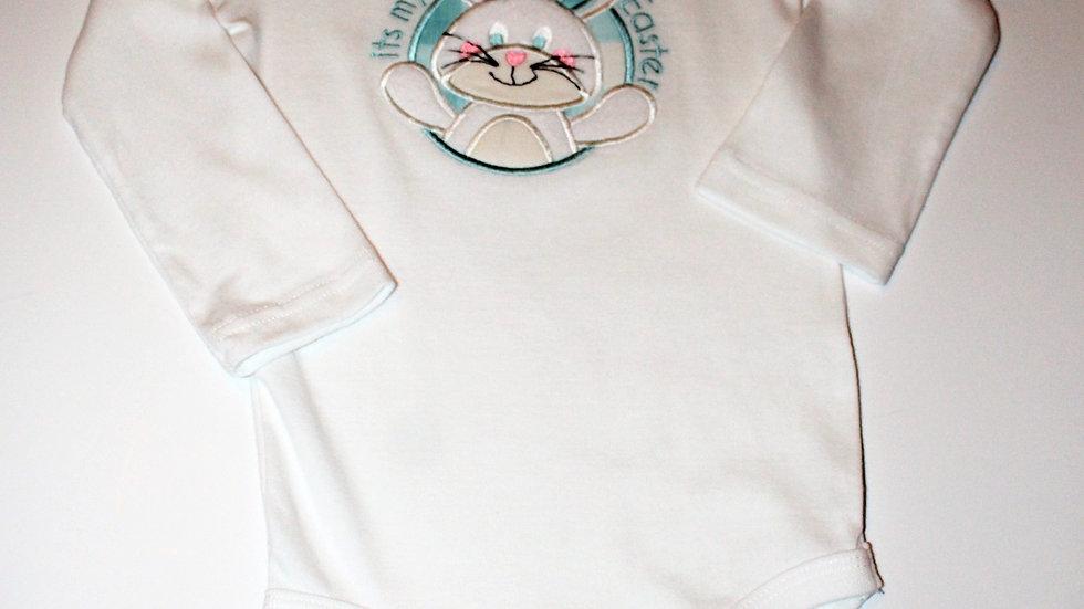 Baby boy 1st Easter bunny bodysuit