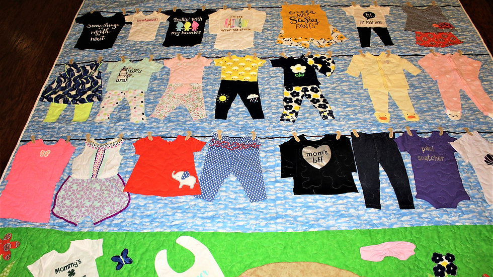 1st year baby clothes quilt quilt made from baby clothes