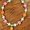 Thumbnail: Girl bubblegum bead carrot Easter necklace