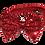 Thumbnail: Baby girl 1st Christmas bodysuit Red metallic large bow headband First Christmas
