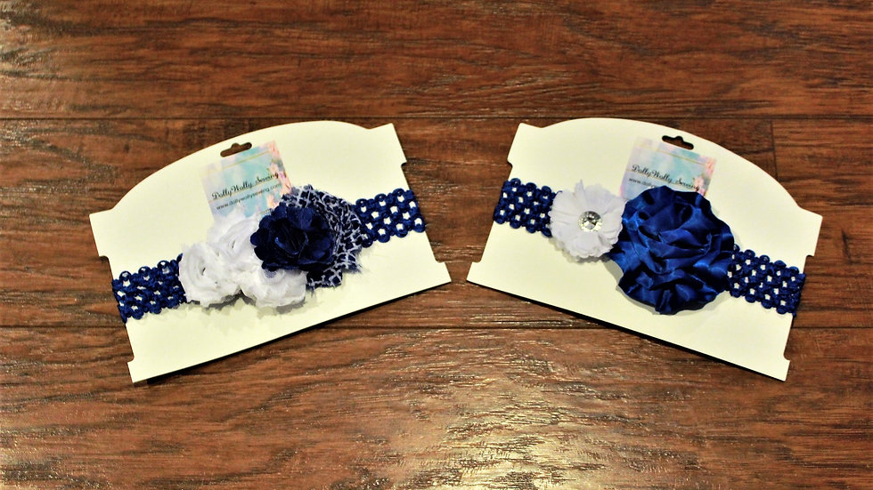 Blue and white football sports headband Kentucky