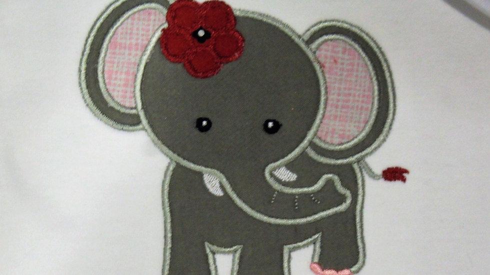 Elephant burp cloth crimson and white baby gift set football baby bib