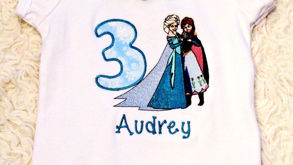 3rd birthday girl shirt ice princess third birthday shirt
