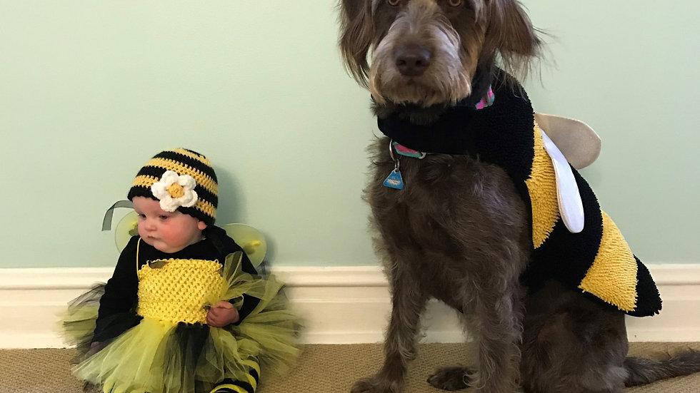 Baby girl bumble bee Halloween costume dog bumble bee costume