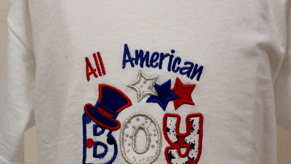 All American boy 4th of July shirt Independence Day red white and blue patriotic