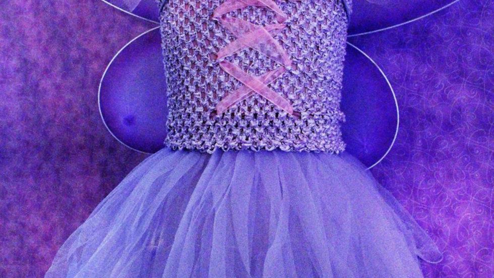 Purple butterfly princess fairy Halloween costume for girl