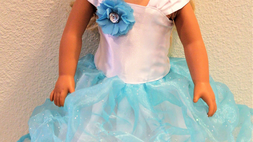 18 inch doll ruched ball gown doll dress doll clothes for AG doll