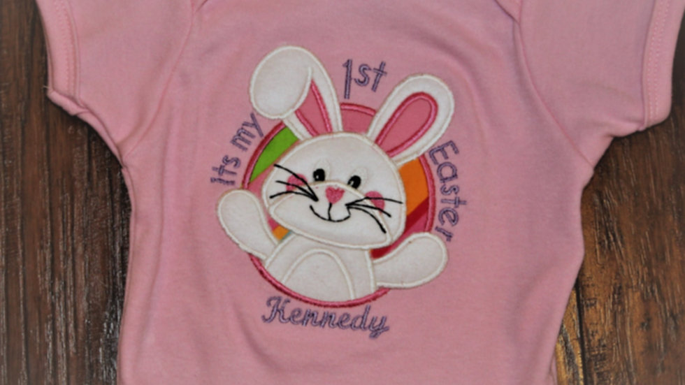 Personalized boy or girl my first Easter bunny bodysuit