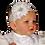 Thumbnail: Baby girl baptism dress white white satin baptism quilt
