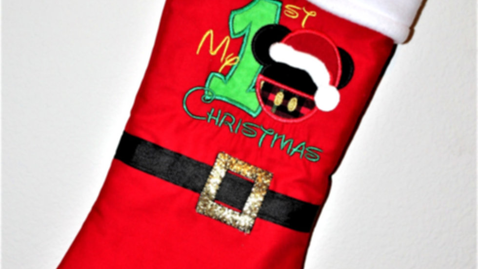 Boy mouse personalized Christmas stocking Christmas decor stockings