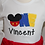Thumbnail: Mouse boy 1st birthday shirt and red long pants first birthday bodysuit