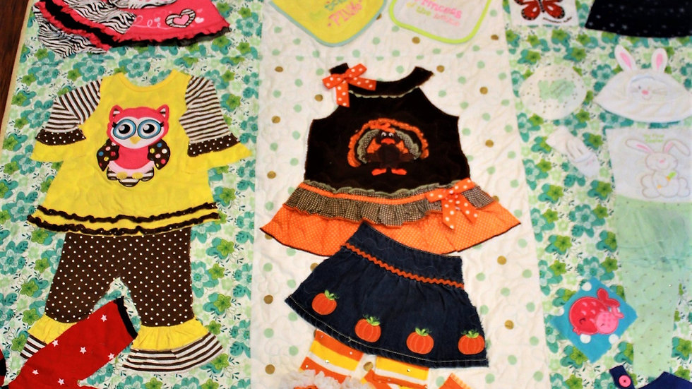 Memory quilt made from girl's clothing memory quilts from kid's clothes