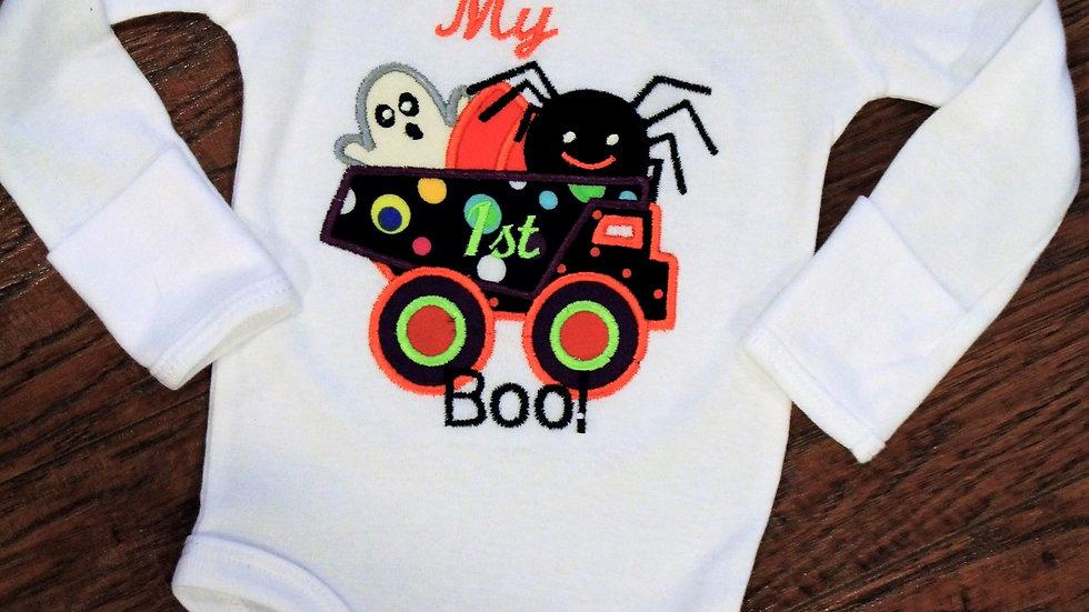 My 1st boo Halloween shirt for baby boy first Halloween bodysuit