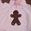 Thumbnail: Matching girl and doll Christmas gingerbread pink jumper