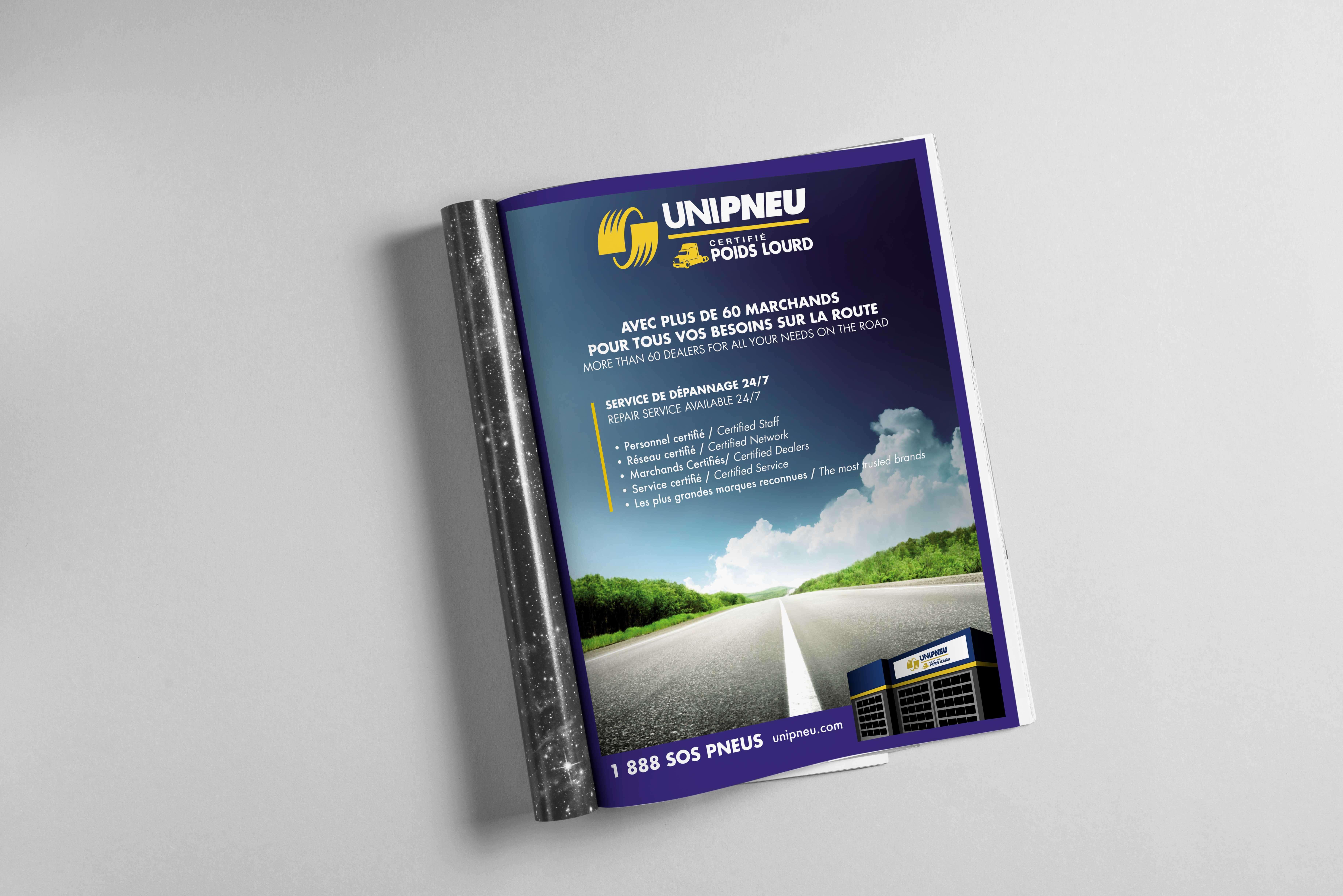 Publicité, Unipneu