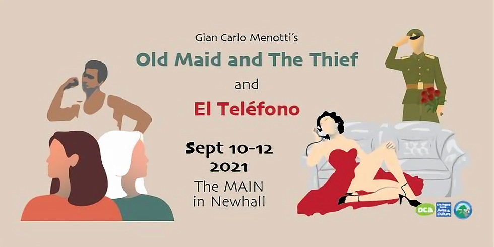 Mission Opera 's Old Maid and the Thief and El Telefono