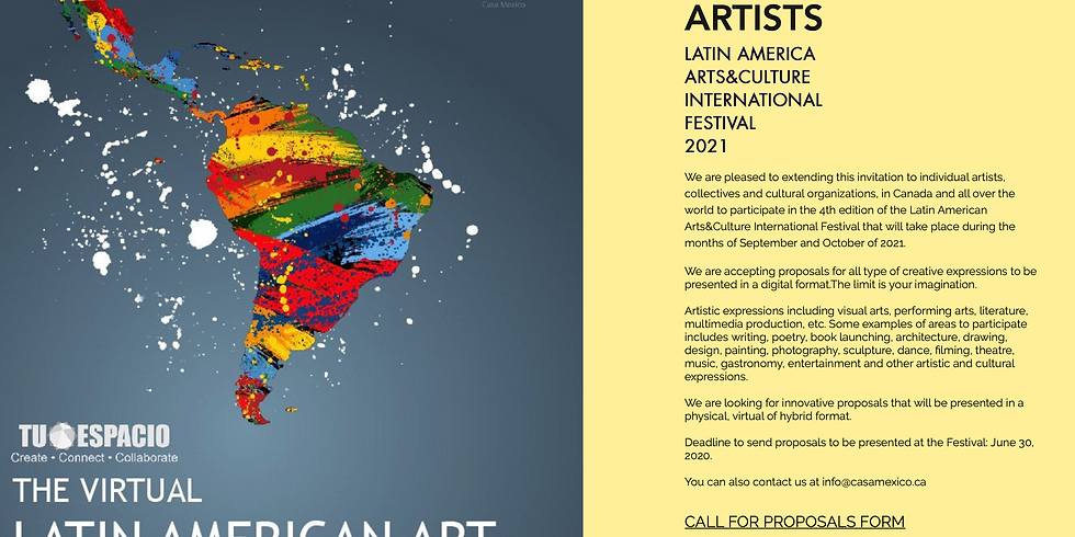Call for Artists Latin American Arts&Culture Festival 2021