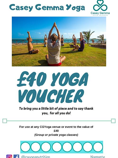 Yoga voucher