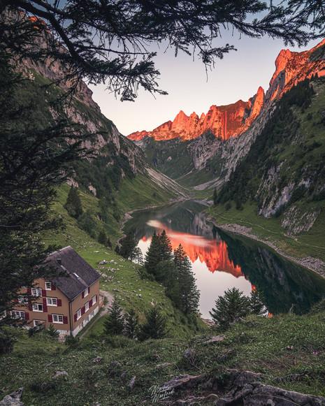 Sunrise in Appenzell, Switzerland