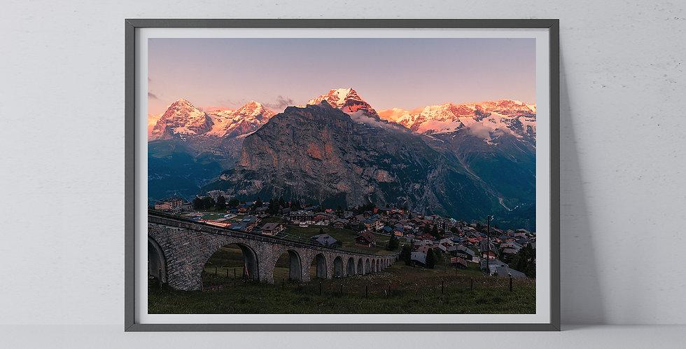 Jungfrau Alpen Glow