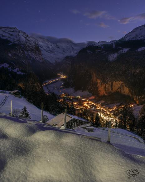 Night over Lauternbrunnen and Wengen