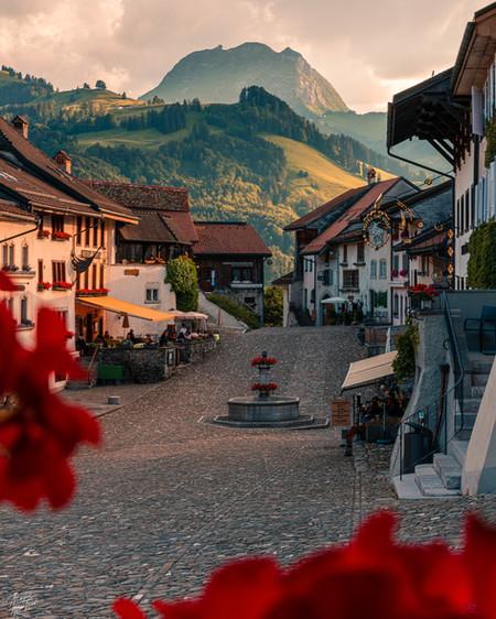 Beautiful small Village, Gruyere, Switzerland