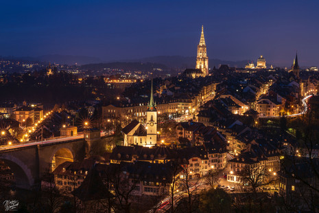 Blue Hour in Berne