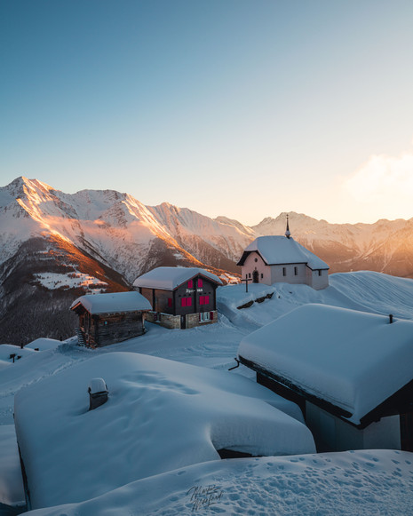 Sunset in Bettmeralp