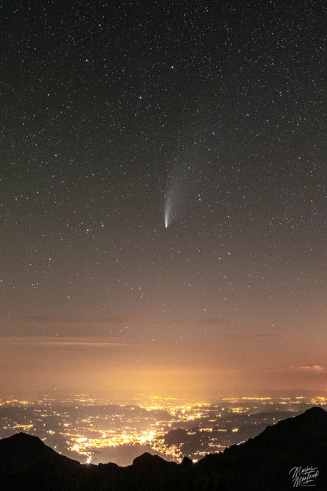 Comet Neowise over Thun, Switzerland