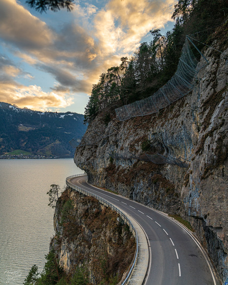 Curvy Road in Thun, Switzerland