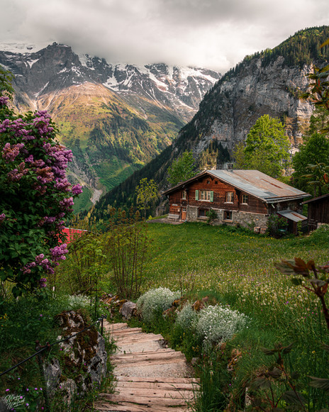 Postcardhouse in Gimmelwald