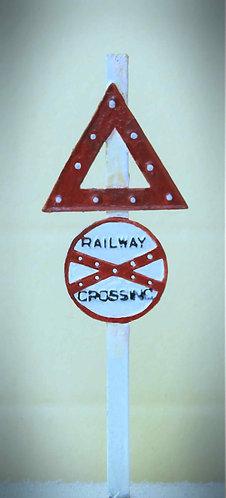 "Sign - ""Railway Crossing"""