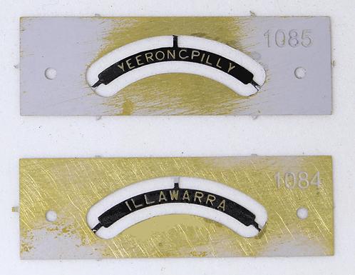 C32/C36 Class Name plates