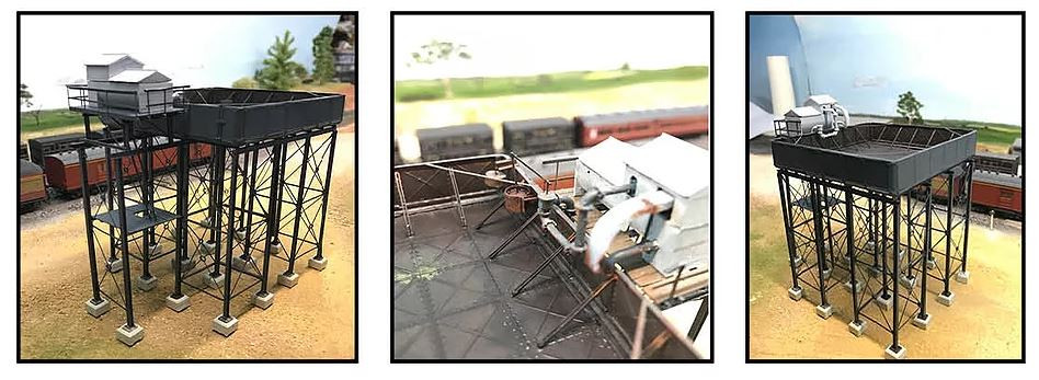 20,000 Gallon single-tier cast iron water tank