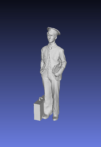 NSWGR Traffic employee as a passenger.  HO Scale, unpainted.
