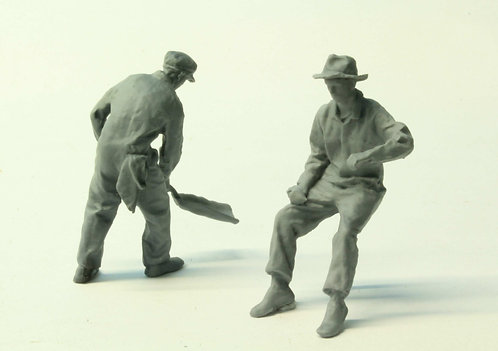 Engine crew (2) - footplate poses (G scale)