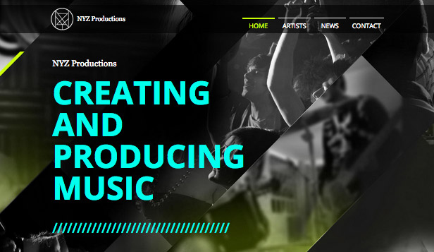 Musikindustrin website templates – Musikproduktion