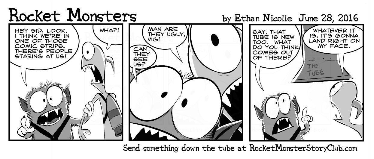 Rocket Monsters, an Interactive Comic Strip | Rocket Monster Story Club!  Stories by kids, for kids.