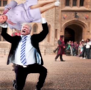 Trump Bodyslams Queen