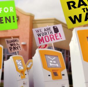 Kiosks Demand Wage Raise